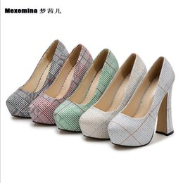 stylish lady shoes heel 2019 - Stylish high platform platform heels Ladies High Heel Shoes Dress Shoes Sexy Wedding Party Thick Heels Pumps cheap styli