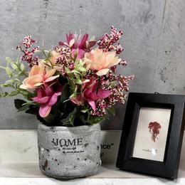 $enCountryForm.capitalKeyWord NZ - Fake Little Silk Lotus Flower Willdflower in Pot Arrangement Flower Bouquet Camera Home Wedding Showroom Coffee House Potted Flower Deco