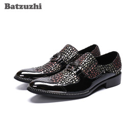 d9b58386d2 Chunky heel oxford online shopping - New Arrival Men Shoes Pointed Toe with  Metal Cap Black