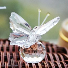 crystal collection favors Australia - New Arrive Crystal Collection Precious Butterfly Souvenir Wedding Party Favors For Guest With Box Package Free Shipping