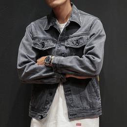 Draped Jacket Australia - 2019 New Spring Men's Casual Hip Hop Style Loose Denim Jacket Jacket Men, Solid Color Gray Men's Cowboy Jacket Casual M-XXL D19010501