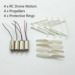 Electric Engine Parts Australia - 4pcs RC Drone Motors CCW CW Engine Motor Propellers Protective Rings Drone Spare Parts for SYMA X21 X21W D350 Quadcopter