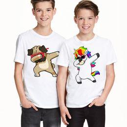 $enCountryForm.capitalKeyWord NZ - Funny Boys T Shirt Kids Rabbit cat panda dog Summer T-shirt Baby Girls Clothes Cartoon Dog Animal Children Tee