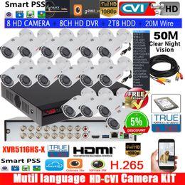 $enCountryForm.capitalKeyWord NZ - Mutil language DH 8CH XCVR5108HS-X CVR camera kit with 1080P CVI camera CVI-HFW1200S IR30M Waterproof HDCVI kits