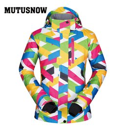 Polyester Jacket Windproof Australia - MUTUSNOW Ski Jacket Women Windproof Waterproof Breathable Warm Clothes Women Snow Coat Wear -30 Degree Winter Skiing Snowboarding Jacket