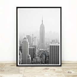 $enCountryForm.capitalKeyWord Australia - Empire State Building in New York Minimalist Canvas Painting HD Wall Picture Poster And Print Decorative Home Decor