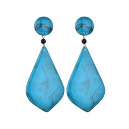 $enCountryForm.capitalKeyWord UK - Luxury Geometric Stone Pendant Earrings For Women ZA Wedding Dangle Drop Jewelry Charm Statement Earrings Wholesal E2743