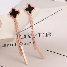 e37d34622 316l Surgical Stainless Steel Earrings Australia - Fashion 316L Surgical  Stainless Steel Clover Dangle Earrings High