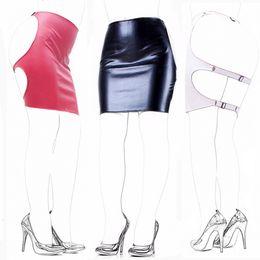$enCountryForm.capitalKeyWord Australia - Camatech Fetish Slave Spanking Skirt Mini Pu Leather Open Hip Bondage Dress Sm Bondage Restranit Adult Game Erotic Toy For Women Y190716