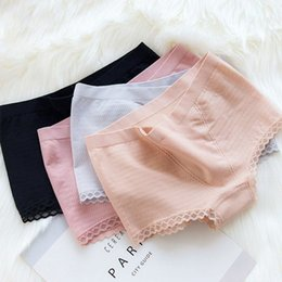 High Waist Panty Seamless Australia - women clothes New women's underwear modal seamless high waist tummy hip boxer panties female hive high elastic sexy lace side ladies panty