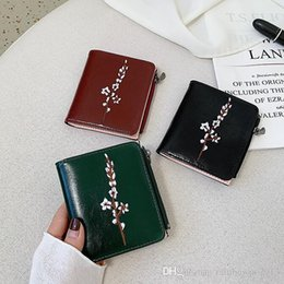 simple easter decorations 2020 - Factory outlet women handbag new retro leather folding women purses multifunctional buckle decoration purse simple leath