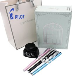 japanese gift set NZ - Japanese pen, Pilot Cavalier metal pen,ink, French set, gift box, stationery, pilot