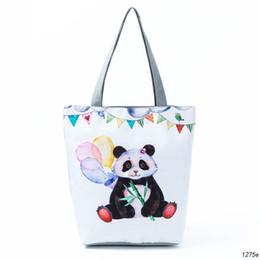 $enCountryForm.capitalKeyWord Australia - Miyahouse Custom Tote Bag Travel Canvas Handbags Panda Printed Casual Shopping Bag Women Shoulder Tote Bags