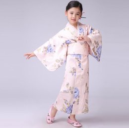 $enCountryForm.capitalKeyWord Australia - Pink Japanese Baby Girl Kimono Dress With Obi Traditional Yukata Child Stage Performance Dance Dress Kid Cosplay Costume B-070