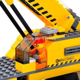 Toys Bricks Australia - kazi city Kazi City Crane Building Blocks Sets Model 380pcs Educational DIY Bricks Classic Toys For Children