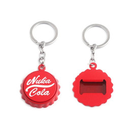 $enCountryForm.capitalKeyWord NZ - New Game Nuka Cola Series Keychain Nuka Cola Beer Bottle Opener Key Ring Red Pip Boy Car Girl Bag Keyring Father'S Day Chaveiro Gifts
