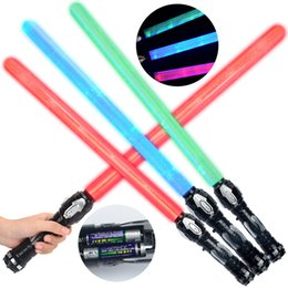 Toy Swords Wholesale NZ - Creative Star Toys Lightsaber Cosplay Model Cross Laser Sword with LED Light &Sounds Flashing Wars Light Saber Kids Toy Christmas Gift