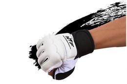 Women Gym Gear Australia - Taekwondo Hand Protector Gear Gloves Punch Bag Muay Thai Boxing Training Fingerless Gloves for Men Women Children