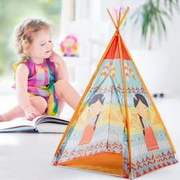 Playhouse Games Australia - Kids Teepee Game House Cartoon Tent Children Toy Playhouse Mat Boys Girl House Gift Outdoor Camping Picnic Hiking Tent