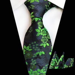 Pink Paisley Grey Necktie UK - Hot Sale Mans Pink Grey Flower Tie Hanky Set 100% Silk Jacquard Necktie Handkerchief Wedding Tie Set Gift for Men