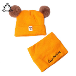 $enCountryForm.capitalKeyWord NZ - TOPMELON 2 Piece Baby Hat and Scarf Winter Caps for Little Boys Girls Under 2 Years Old Cute Babies Loop Scarfs Pompom Beanie