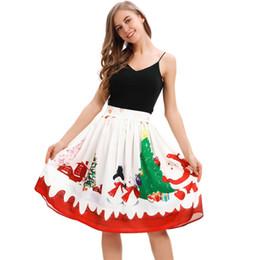 047bedc8a24c Lady Summer Christmas Clothes Australia - Elegant Girl Skirt New Fashion  Christmas Snowman Midiskirt Clothing Fashion