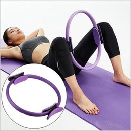 pilates ring yoga NZ - Dual Grip Training Yoga Pilates Ring for Muscle Exercise Kit Magic Circle Muscles Bod Yoga Fitness Slimming Plasticity Tool