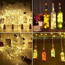 Wine bottle decorations for Weddings online shopping - 20LED New Wine Bottle Lights Cork Battery Powered Garland DIY Christmas String Lights For Party Halloween Wedding Decoration
