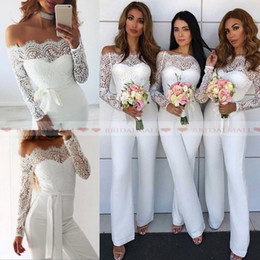 88c3bf4b558 Off white rOmpers jumpsuits online shopping - Cheap Bridesmaid Dresses Women  Jumpsuits Daoroka Sexy Lace Off