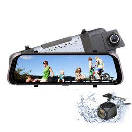 "$enCountryForm.capitalKeyWord NZ - 10"" touch screen stream media car DVR rearview mirror dashcam car driving recorder front 170° rear 145° full HD 1080P super night vision"