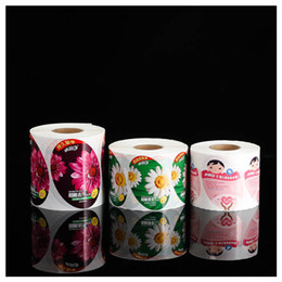 $enCountryForm.capitalKeyWord Australia - Custom round color printing label sticker roll package waterproof shampoo sticker label body wash plastic sticker printing color from China