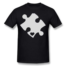 $enCountryForm.capitalKeyWord NZ - L Mens TeeStars - Autism Awareness Heart Cut Puzzle Particular T Shirt Black New 2018 Summer Style T-Shirt The New