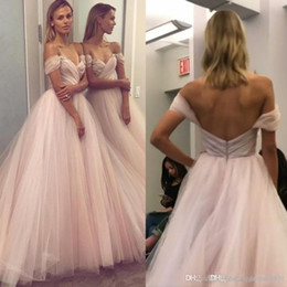 52f35a75b51080 2018 Simple Tulle Bridesmaid Dresses Off Shoulder Beaded Backless Sexy Prom  Dresses Long Custom Made Junior Evening Gowns robe de marié