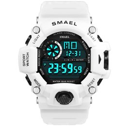 $enCountryForm.capitalKeyWord Australia - Digital Watch Men Led Display Smael Male Watch Sport Watches For Men Waterproof Relogio Masculino1385c White Digital Watches Men MX190716