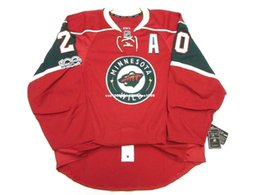 Hockey jersey suter For Sale - Cheap custom Ryan Suter MINNESOTA WILD HOME th ANNIVERSARY JERSEY stitch add any number any name Mens Hockey Jersey GOALIE CUT XL