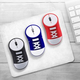 usb 3d optical mouse Canada - Wireless Canvas Shoes Shaped Mouse Optical Mini Mouse 3D USB 1200 DPI Ergonomic Computer Gaming Mause Sports Mice For PC Desktop Home Office