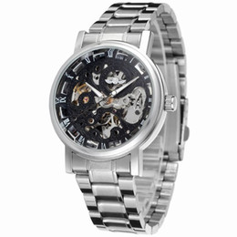 $enCountryForm.capitalKeyWord Australia - Rough luminous waterproof hollowed out automatic mechanical men's watch Roman scale stainless steel gear clock cool gift