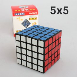 wholesale puzzles Australia - High Quality Magic Cube 5x5x5 Speed Puzzle Game Ultra-Smooth Twist Kids Toy Gift Tissue Box 6.5cm*6.5cm*6.5cm Black 5x5