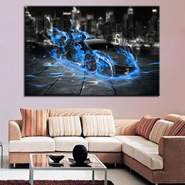kids games race UK - Modular Pictures Wall Art HD Prints 1 Pieces Racing Car Canvas Game Painting Modern Home Decoration For Kids Room Artwork Poster