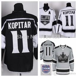136140504 2016 Cheap Men's Los Angeles Kings Hockey Jerseys #11 Anze Kopitar Jersey  Home Black Road White LA Kings Stitched Jerseys A Patch