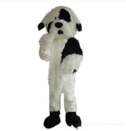 $enCountryForm.capitalKeyWord UK - Professional custom white and black dog Mascot Costume cartoon Jingba dog animal character Clothes Halloween festival Party Fancy Dress