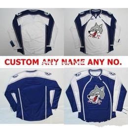Jerseys Wolf Australia - Customize OHL Sudbury Wolves Jersey Mens Womens Kids Personalized 100% Stitched Any Name NO.Ice Hockey Jerseys Goalit Cut Hot sale