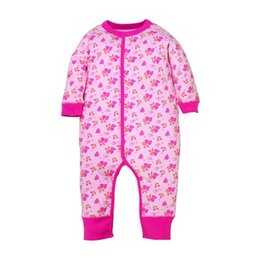 Girls Zebra Print UK - Double Cotton High Quality New Arrival Winter Newborn Baby Boys Rompe Animal Cartton Printing Baby Girls Jumpsuits With Long Sleeved