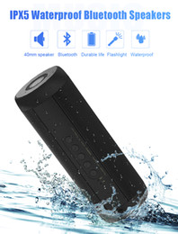 Best Iphone Speaker Australia - T2 Wireless Bluetooth Speakers Best Waterproof Portable Outdoor Loudspeaker Mini Column Box Speaker Design for iPhone Xiaomi