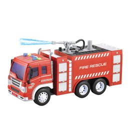 music box water Australia - TWWY351A new product 1:16 Friction Fire Fighting Truck with light & music & water function Display Box Packaging hot-sale wholesale