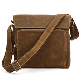 jmd leather bags Australia - JMD Crazy Horse Leather Men Messenger Bag Shoulder Bags Cross Body Purse Wholesale 5Pcs Lot 7051B-1