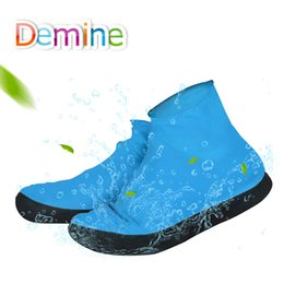 $enCountryForm.capitalKeyWord Australia - Demine Shoe Covers Waterproof Rain Shoes for Men Boots Elasticity Foldable Rainy Blue Overshoes Protector Accessories Easy Carry
