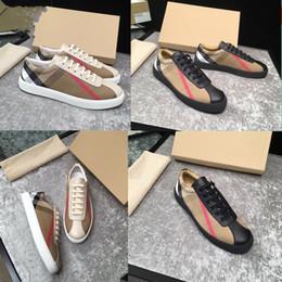2020 mens designer fashion Advanced manualof shoes brand leather lace-up casual flats image movement shoes size 38~45 on Sale