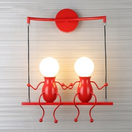$enCountryForm.capitalKeyWord Australia - JESS Modern LED Wall Light Creative Figure Mounted Wall Lamp Sconce Home Fixtures for Children's Bedroom Corridor luminaria led