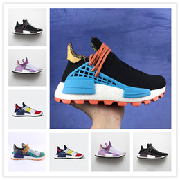 white glow powder Australia - New Luxury Running Shoes Pharrell Williams Hu Human Race Equality Hoil Inspiration Core Footwear Powder Glow Solar Ras Brand Design Sneakers
